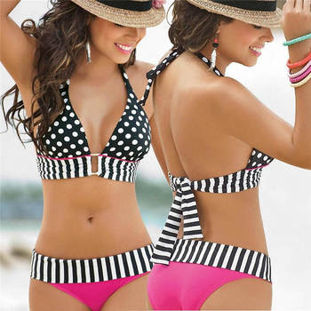 Europe and American Direct Sales Beautiful Sexy Girl Bikini Swimwear Fashion Bikini Women's Split Swimwear