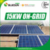 Pitched and Flat roof 15kw grid tie solar power system 15 KW yingli solar for home