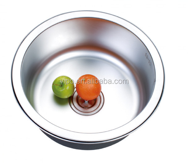 Ellis Round Undermount Stainless Steel Small Single Bowl Sink 19 Gauge A32