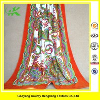 Manufacture Cotton Floral Printed Cheap Wholesale Beach Towels