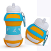 Silicone Volleyball Shaped Collapsible Water Bottle With Custom Print