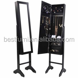 White Wall Door Mount Mirrored Jewelry Armoire Makeup Cabinet