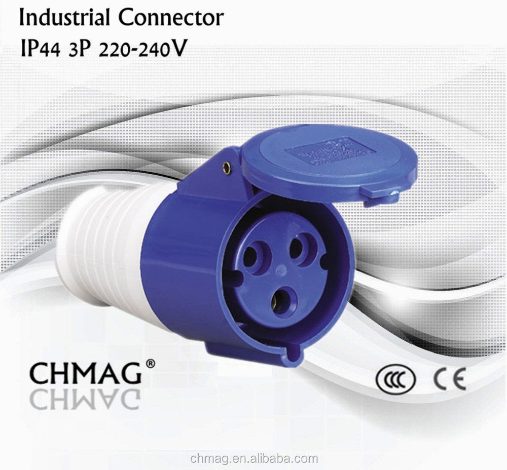 3p power connector industrial plug socket 32A portable connector 3poles 3pin IP44 electrical IECCEE female 213 industrial socket