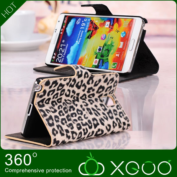 leather folio stand for samsung galaxy note 3 Flip Case