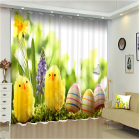 Structured Curtain Wholesale 3D Cute Animal Series Blackout Blind Polyester Fabric Hardware Window Drapery