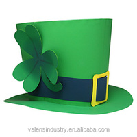 OEM wholesale Funny St. Patricks Day Green Leprechaun Top Hat for buckle Fancy Dress Costume