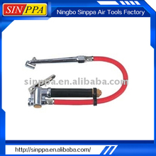Dual Chuck Tire Inflator With Gauge---STG-02.