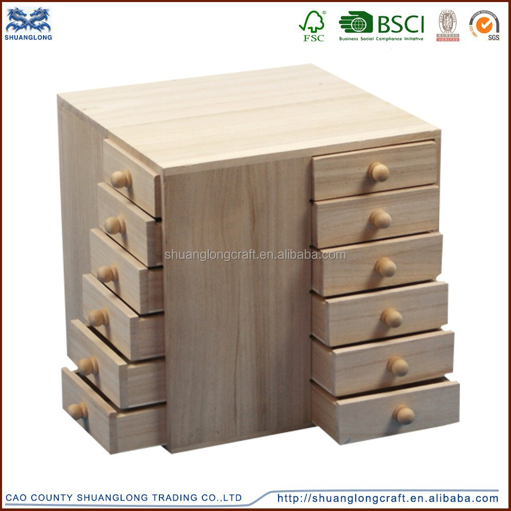 small drawer cabinet, handmade unfinished solid wood cabinet small ...