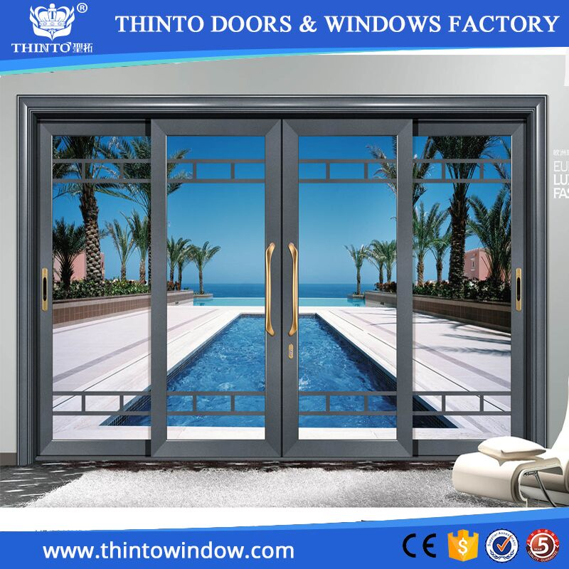 Manufacturer used commercial aluminum glass sliding door for Sliding door manufacturers