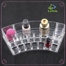 Beauty Clear Acrylic Lipstick Holder Display Stand Cosmetic Organizer in cheap price