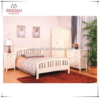 wooden furniture white painted solid pine bedroom