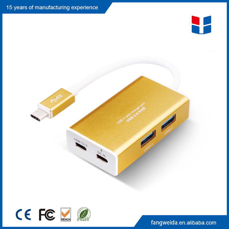 High speed expansion aluminum usb-<strong>c</strong> hub type <strong>c</strong> to USB 3.0 adapter for Apple New Macbook <strong>12</strong>