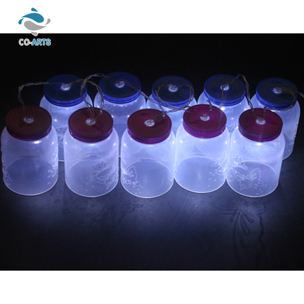 Good quality bottle shaped solar charger outdoor patio string lights