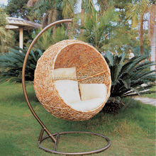 Wicke patio swing chair handcraft wicker hanging chair
