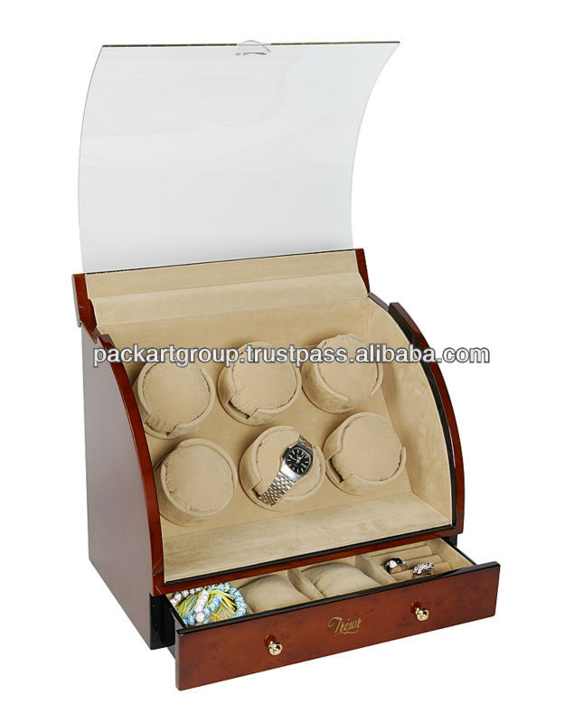 High Glossy 6 Rotors Wholesale Watch Winder
