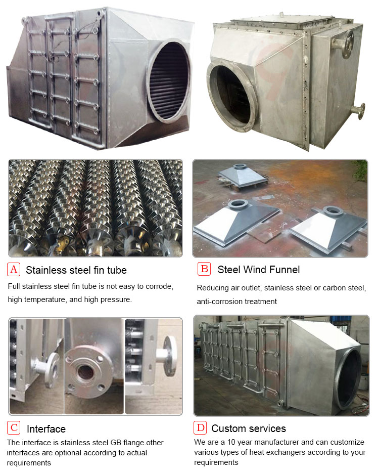 Full stainless steel 304 boiler economizer price