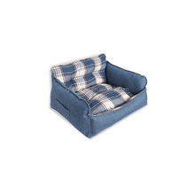 High Quality China Factory three-color comfy Sofa Shape Pet dog bed, wholesale dog beds