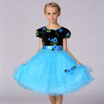 Girls new velvet roses bouquets girls vest dress princess skirt dress