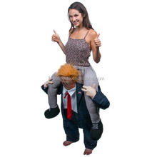 new hot sale direct manufacture Ride On Trump Costume carry me bavarian beer guy ride on oktoberfest mascot costume