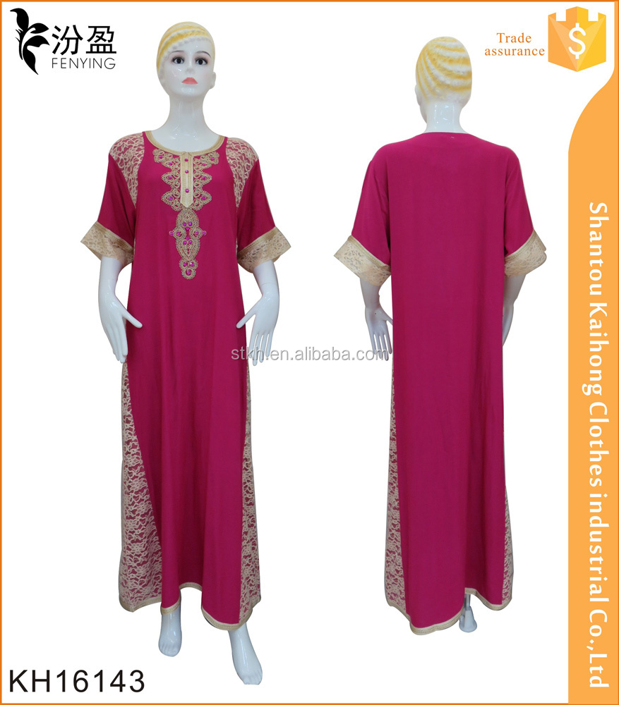 elegant women design maxi dress dubai abaya with lace
