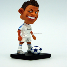 OEM 3D plastic football player mini action figure toys collection for kids