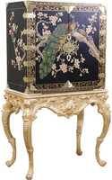 Luxury French Louis Curio Corner Cabinet of Royal Golden Design BF11-04301a