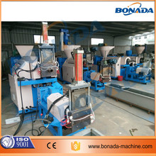HDPE/PP/PET flakes plastic recycling pelletizing machinery in china