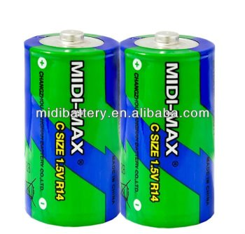2#zinc carbon battery R14 size um-2 1.5v