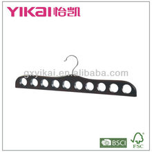 2013 new style wooden scarf hanger with 10 holes with cherry color