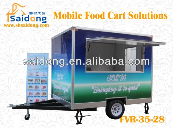 street mobile food vending cart/food kiosk for sale