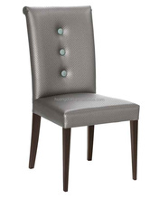 Wholesale hotel chair button tufted wooden chair cover by leather chair