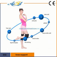 color knee support , knitted nylon magnetic knee strap , adjustable knee brace