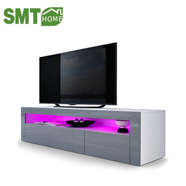 High Gloss Matt TV Cabinet Unit Stand White RGB LED