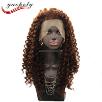 High Temperature Fiber Synthetic Cheap Lace Front Wig With Baby Hair