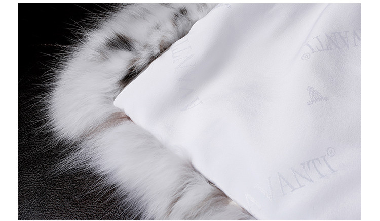 Top Quality Luxury Real White Lynx Fur Coat