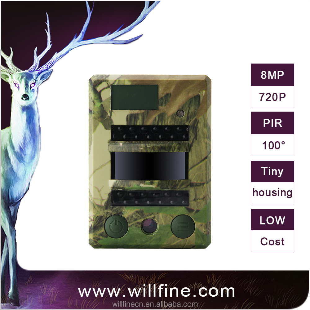 OEM/ODM 8MP outdoor hidden hunting camera 1.3MP COMS sensor hunting trail camera