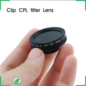 Neewer Universal Detachable Clip Polariscope Lens HD CPL Professional Filter for All Cellphone,