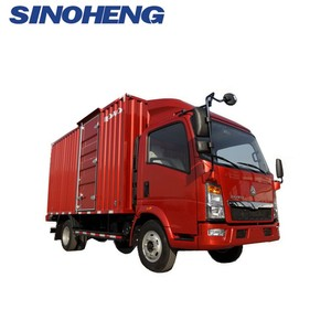 China box cargo truck sinotruk HOWO 4x2 mini van lorry truck