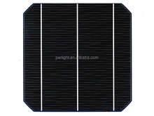 Price of solar cell 156 125 mono poly solar cell black dark blue for sale