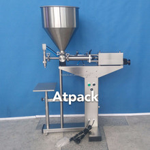 Atpack high-accuracy semi-automatic Straight Sided Borosilicate Glass Packing Jar Herb Jars filling machine with CE GMP