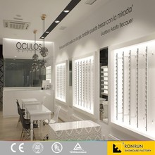 Fashion Style Optical Store Furniture Showroom Design with Led Light for Shopping Mall