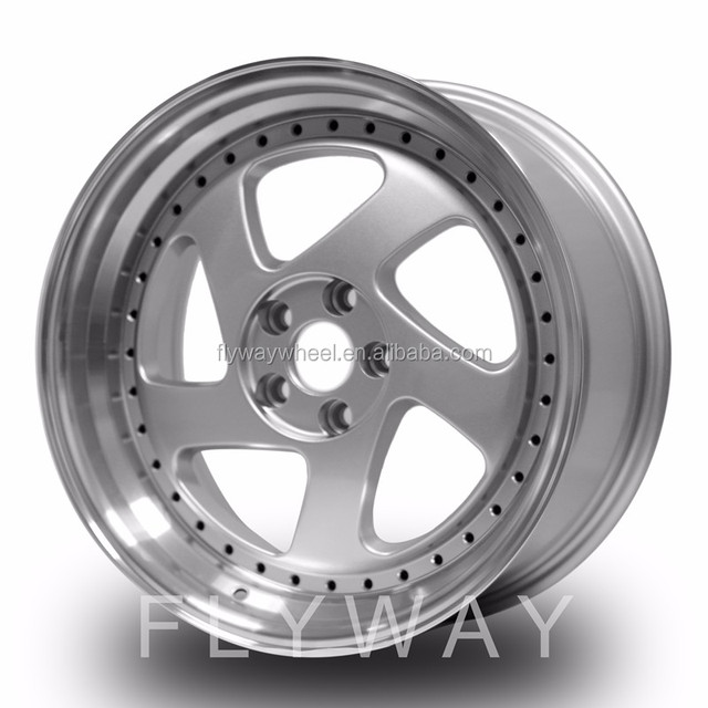 Flyway New Design H502 17x7.5 17x8.0 Machined Face Alloy Wheel Rim With Rivet