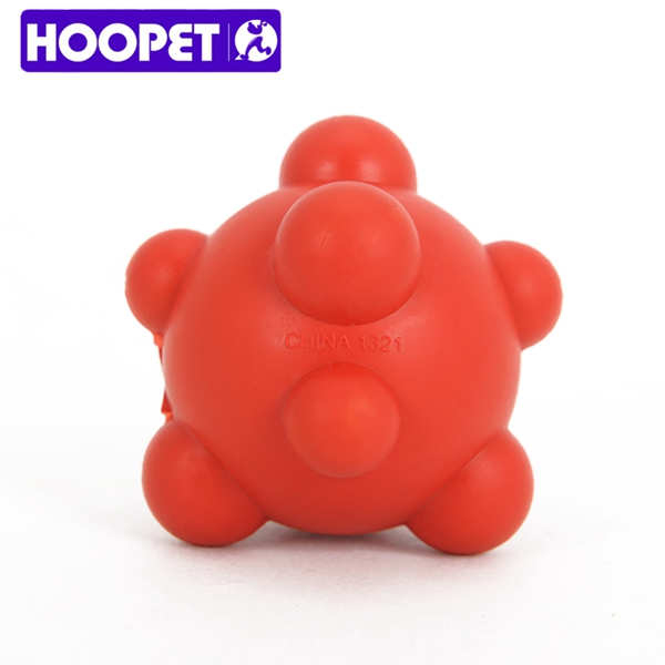Dog Premium Bounced Red Rubber Pet Toy Ball With Bumps