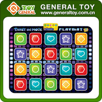 150*120cm Baby Play Gym Mat Kids Plastic Twister Game Play Mat With LED