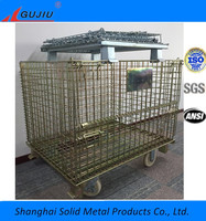 Supermarket Folding Container used storage systems metal wire mesh container
