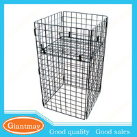 grocery store powder coated finished metal wire dump bins display