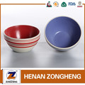 stocked embossed stoneware salad bowl with color circle made in china