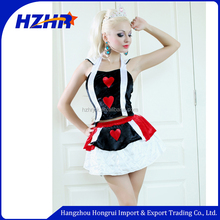 queen of hearts costume dress for halloween cosplay