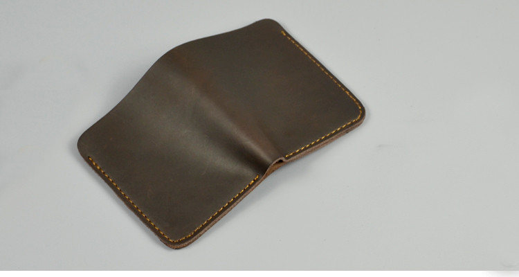 wb1713 Small Order Cowskin Leather Men Luxury Handmade Wallet