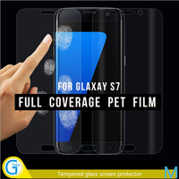 HD Clear Soft PET Full Cover Screen Protector Film for Samsung S7 Edge